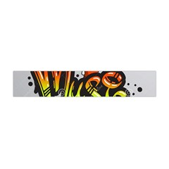 Graffiti Word Character Print Spray Can Element Player Music Notes Drippy Font Text Sample Grunge Ve Flano Scarf (Mini)