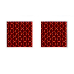 Snake Abstract Pattern Cufflinks (Square)