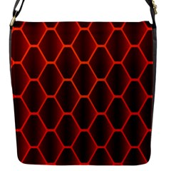 Snake Abstract Pattern Flap Messenger Bag (S)