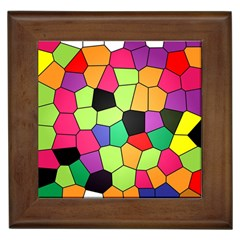Stained Glass Abstract Background Framed Tiles