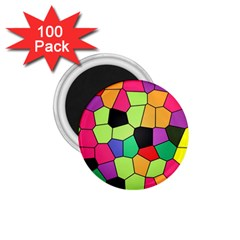 Stained Glass Abstract Background 1.75  Magnets (100 pack)