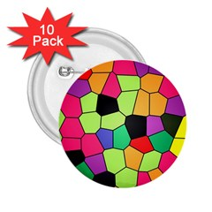 Stained Glass Abstract Background 2.25  Buttons (10 pack)