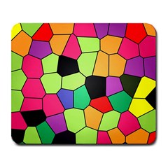 Stained Glass Abstract Background Large Mousepads