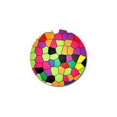 Stained Glass Abstract Background Golf Ball Marker (4 pack)