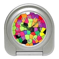 Stained Glass Abstract Background Travel Alarm Clocks