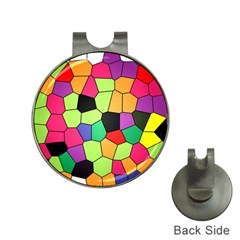 Stained Glass Abstract Background Hat Clips with Golf Markers