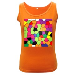 Stained Glass Abstract Background Women s Dark Tank Top