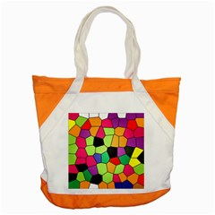 Stained Glass Abstract Background Accent Tote Bag