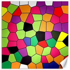 Stained Glass Abstract Background Canvas 20  x 20