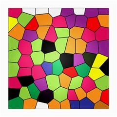 Stained Glass Abstract Background Medium Glasses Cloth (2-Side)