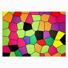 Stained Glass Abstract Background Large Glasses Cloth