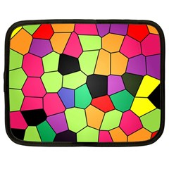 Stained Glass Abstract Background Netbook Case (Large)