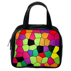 Stained Glass Abstract Background Classic Handbags (One Side)