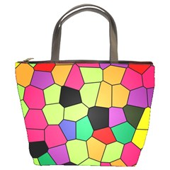 Stained Glass Abstract Background Bucket Bags