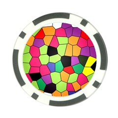 Stained Glass Abstract Background Poker Chip Card Guard (10 pack)