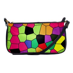 Stained Glass Abstract Background Shoulder Clutch Bags