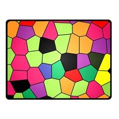 Stained Glass Abstract Background Fleece Blanket (Small)