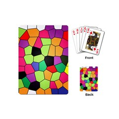 Stained Glass Abstract Background Playing Cards (Mini)
