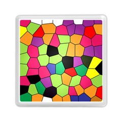 Stained Glass Abstract Background Memory Card Reader (Square)
