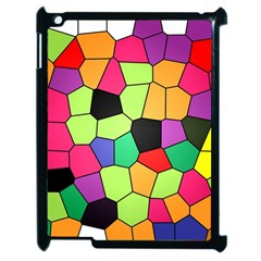 Stained Glass Abstract Background Apple iPad 2 Case (Black)
