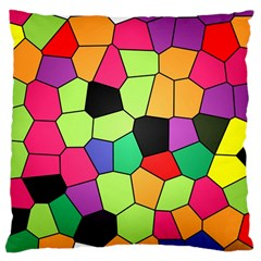 Stained Glass Abstract Background Large Cushion Case (One Side)