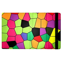 Stained Glass Abstract Background Apple iPad 2 Flip Case