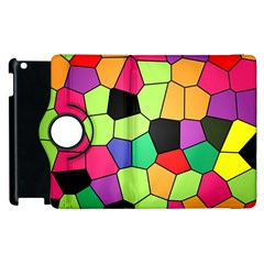 Stained Glass Abstract Background Apple iPad 2 Flip 360 Case