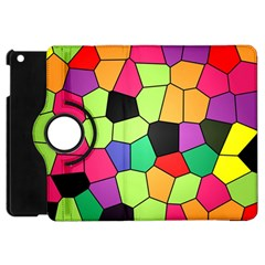 Stained Glass Abstract Background Apple Ipad Mini Flip 360 Case