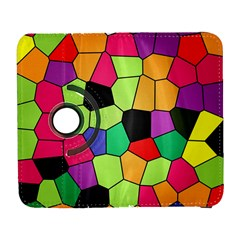 Stained Glass Abstract Background Galaxy S3 (Flip/Folio)