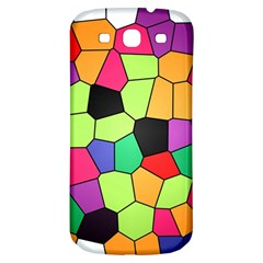 Stained Glass Abstract Background Samsung Galaxy S3 S III Classic Hardshell Back Case
