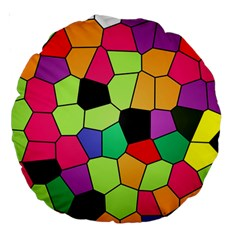 Stained Glass Abstract Background Large 18  Premium Round Cushions