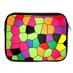 Stained Glass Abstract Background Apple Ipad 2/3/4 Zipper Cases