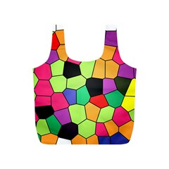 Stained Glass Abstract Background Full Print Recycle Bags (S)
