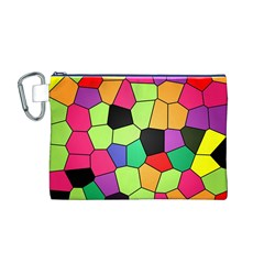 Stained Glass Abstract Background Canvas Cosmetic Bag (M)