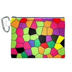 Stained Glass Abstract Background Canvas Cosmetic Bag (XL)