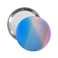 Twist Blue Pink Mauve Background 2.25  Handbag Mirrors