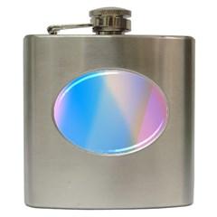 Twist Blue Pink Mauve Background Hip Flask (6 oz)