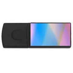 Twist Blue Pink Mauve Background USB Flash Drive Rectangular (4 GB)