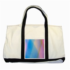 Twist Blue Pink Mauve Background Two Tone Tote Bag