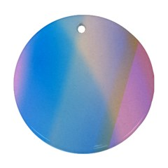 Twist Blue Pink Mauve Background Round Ornament (Two Sides)