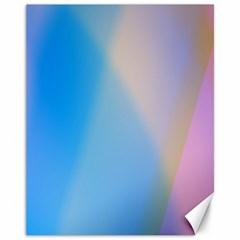 Twist Blue Pink Mauve Background Canvas 11  x 14