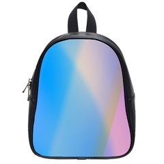 Twist Blue Pink Mauve Background School Bags (Small)