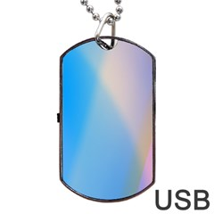 Twist Blue Pink Mauve Background Dog Tag USB Flash (Two Sides)