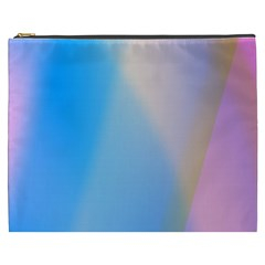 Twist Blue Pink Mauve Background Cosmetic Bag (XXXL)