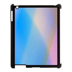 Twist Blue Pink Mauve Background Apple iPad 3/4 Case (Black)