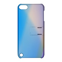 Twist Blue Pink Mauve Background Apple iPod Touch 5 Hardshell Case with Stand