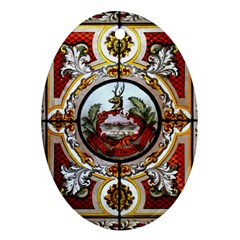 Stained Glass Skylight In The Cedar Creek Room In The Vermont State House Ornament (Oval)