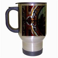 Stained Glass Skylight In The Cedar Creek Room In The Vermont State House Travel Mug (Silver Gray)
