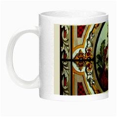 Stained Glass Skylight In The Cedar Creek Room In The Vermont State House Night Luminous Mugs