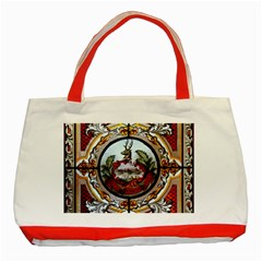 Stained Glass Skylight In The Cedar Creek Room In The Vermont State House Classic Tote Bag (Red)